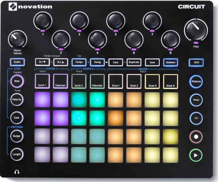 Novation Circuit Groove Box w/Sample Import Drum Machine