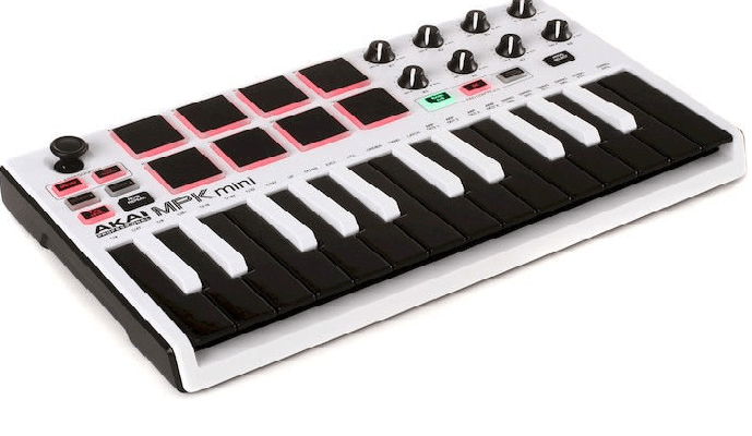 Akai Professional MPK Mini MKII White Drum Machine