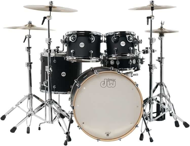 DW Design Series Drum Set 22-10-12-16-14 - Tobacco Burst