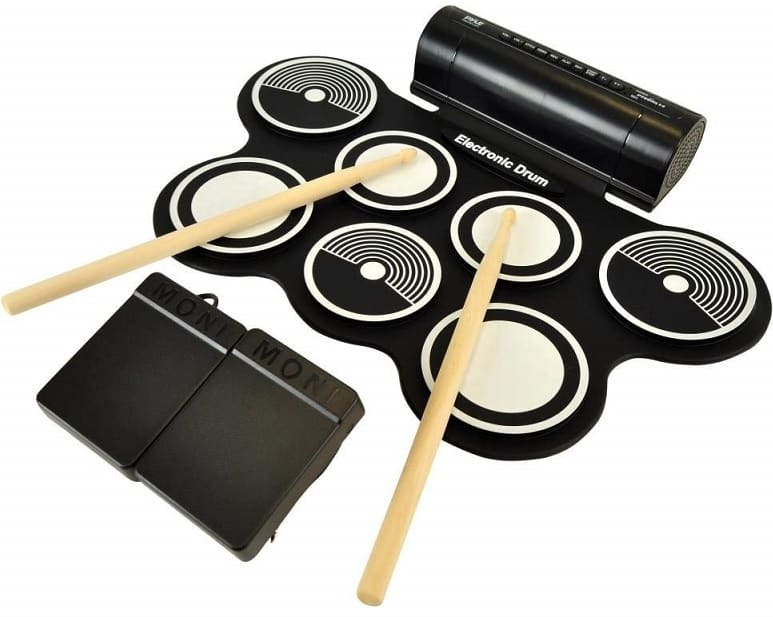 Portable Electronic Drum Kit OLEY for Practice Starters Kids
