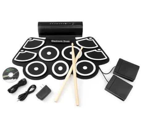 Best Choice Products Roll-Up Foldable Electronic Drum Set wUSB MIDI