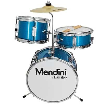 Mendini by Cecilio 13 Inch 3 Piece Kids Junior Drum Set