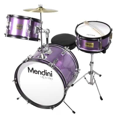 Mendini by Cecilio 16 inch 3-Piece Kids Junior Drum Set with Adjustable Throne