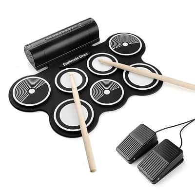 Portable Electronic Drum Kit, OLEY Digital Foldable Roll-Up Drum Pad Set