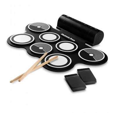 Pyle Electronic Drum Set Pad With Built in Speakers